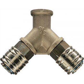 Y-Verteiler DN 7,2 Anschluss g 1/2 innen Messing 13mm