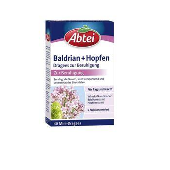 Abtei Baldrian + Hopfen Dragees zur Beruhigung 40 Dragees