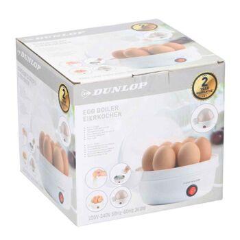 Dunlop Eierkocher mit Alarm und Transparenten Deckel, 360 W, weiss