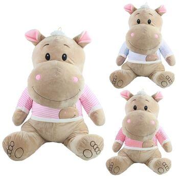 27-31615, Plüsch Nilpferd 80 cm sitzend, Funny Hippo