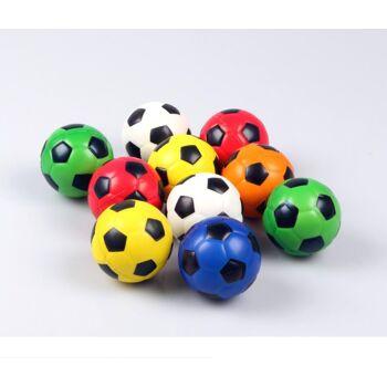Knautschball 6,3 cm D, Fußball, Fussball, Kickball, Knetball, Antistressball, Wasserball, Spielball, Wurfball