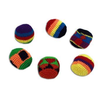 27-41881, Kickball, 5,5 cm,  Jonglierball, Strickbezug, Wurfball