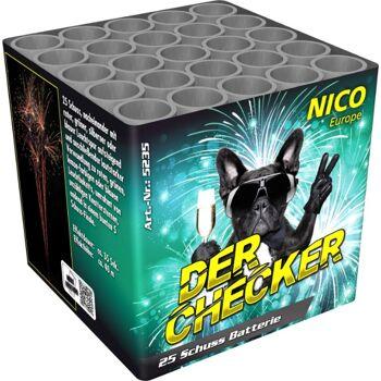 Der Checker 25 Schuss Batteriefeuerwerk
