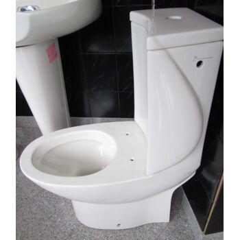 Exklusive WC-Kombination + Spülkasten in Weiss