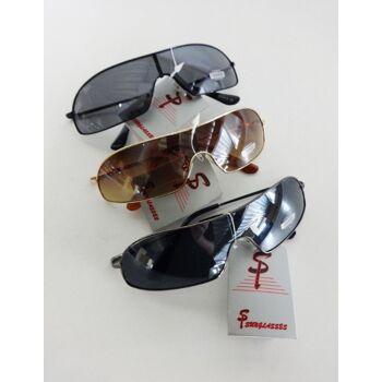 Gold, Chrom und schwarze Sonnenbrille 'Si Sunglasses'