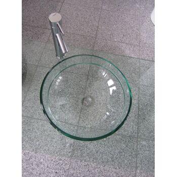 Luxuriöse Designer-Waschbecken-Sets aus Glas mit Zubehör und Armatur