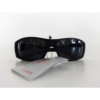 Mattschwarze, schwarz glänzende und braune Sonnenbrille H2084