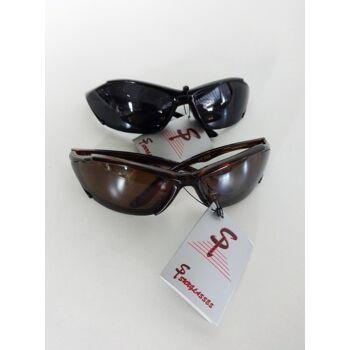 Schwarze und braune 'Si Sunglasses' Sonnenbrille