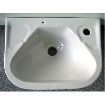 Special compact hand-washbasin 40x30 cm in white
