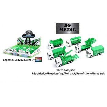 27-44584, Modellfahrzeug Müll LKW aus Metall mit Antrieb
