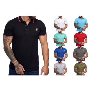 Herren Men Poloshirt S-XXXL T-Shirt Kurzarm Shirts Polo Oberteil Kindershirts Sommer T-Shirts Mix Posten nur 7,90 Euro