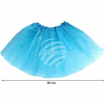 Kinder Tutu Petticoat Unterrock hellblau Glitzer