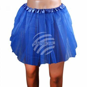 Tutu Petticoat Unterrock dunkelblau blau ca. 46 cm