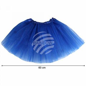 Tutu Petticoat Unterrock dunkelblau blau ca. 60 cm