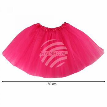 Tutu Petticoat Unterrock fuchsia ca. 60 cm