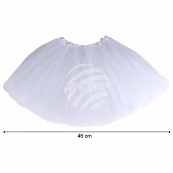 Tutu Petticoat Unterrock weiß ca. 46 cm