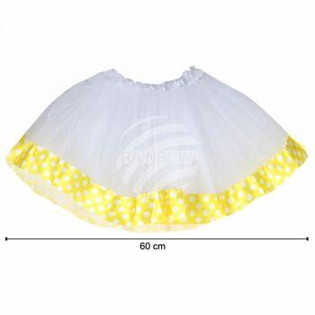 Tutu Petticoat Unterrock weiß gelb Bordüre weiß