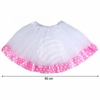 Tutu Petticoat Unterrock weiß pink Bordüre weiß