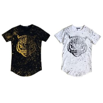 Kinder Jungen Trend T-Shirt Tiger Muster 8-16 Jahre Shirt Superior Shirts Kurzarm Kindershirts Oberteil - 6,90 Euro