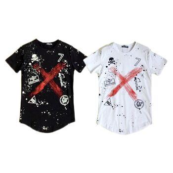 Kinder Jungen Trend T-Shirt Totenkopf Skull Muster 8-16 Jahre Shirt Shirts Kurzarm Kindershirts Oberteil - 6,90 Euro