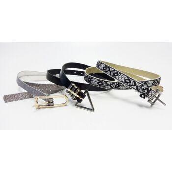 Verschiedene Leder- und Kunststoffgürtel für Damen