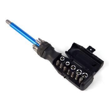 28-604605, Schraubendreher mit Bitset- 20 teilig, usziehbar bis zu 54 cm mit Magnetkopf zum Aufsammeln von Schrauben