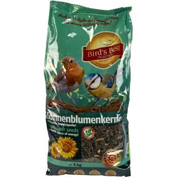 28-636225, Sonnenblumenkerne 1kg, schwarz, Vogelfutter fürs ganze Jahr++++++