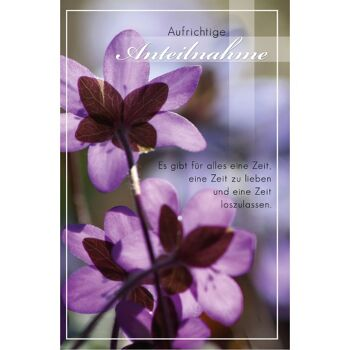 28-993897, Trauerkarten, gedeckte, pastellfarbige Gestaltung