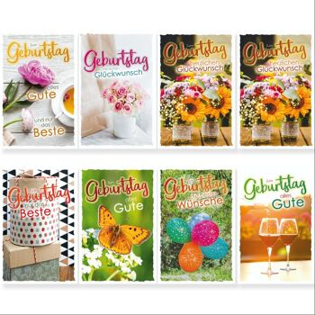 28-993903, Geburtstagskarten Bunte Glückwünsche, Geschenkkarten, Glückwunschkarten
