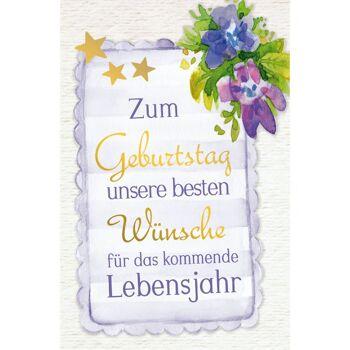 28-994233, Geburtstagskarten Glückwünsche mit Goldfolie, pastellfarbige grafische Gestaltung, Geschenkkarten, Glückwunschkarten
