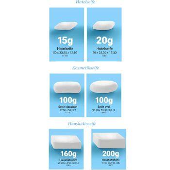 Haushaltsseifen, Hotelseifen, Toilettenseife, Household soaps, hotel soaps, toilet soap 15g,20g,160g,200g
