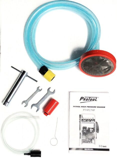 1 Zylinder 4 Takt Motor luftgek/ühlt Drehzahl 3400 // min Protool Benzin Hochdruckreiniger 7 PS mit 170 bar Druck F/örderleistung 600 Liter pro Stunde