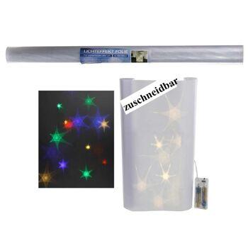 28-563490, Lichteffektfolie, 33 x 100 cm, wie z. Bsp. Lichterkette hinter der Folie erzeugt Lichteffekte, zuschneidbar