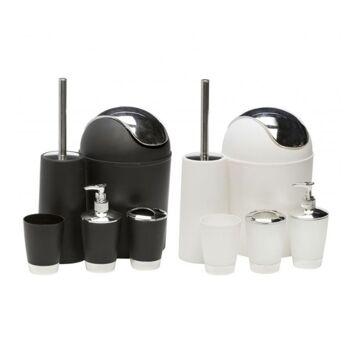Badezimmer-Toiletten-Set 5 teilig robust aus Edelstahl