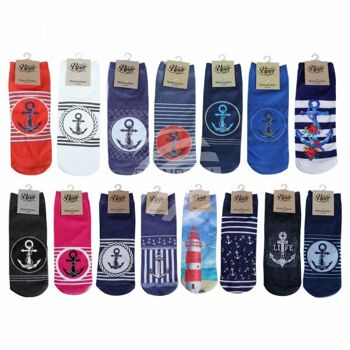 Starterpaket Motiv Socken maritim 15 Modelle
