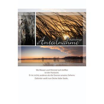 28-994583, Trauerkarten mit Beileidsbekundungen