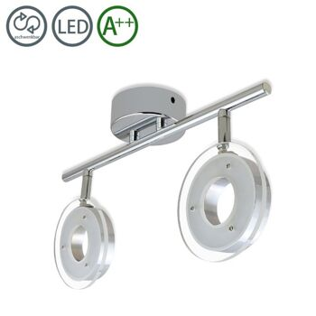 VINGO® 12W LED Deckenleuchte Deckenstrahler 2-Flammig Warmweiss 1200LM [Energieklasse A++] Panel Wand Lampe Badlampe