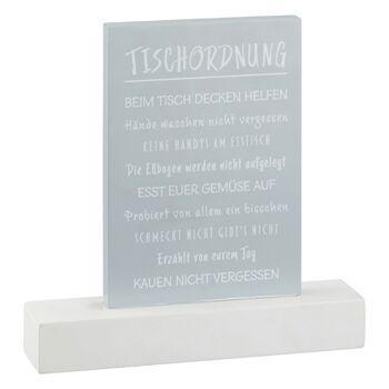 17-78023, Holz Aufsteller Tischordnung 25 cm, auf Fuss