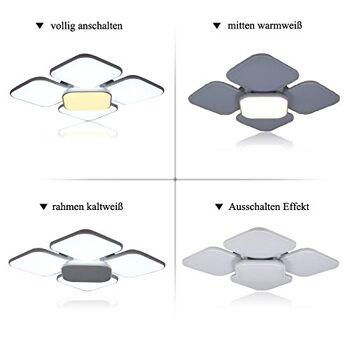 84W LED Deckenleuchte 7440 Lumen Deckenlampe Moderne Beleuchtung IP44 Deckenbeleuchtung für 20-45m² [Energieklasse A++]