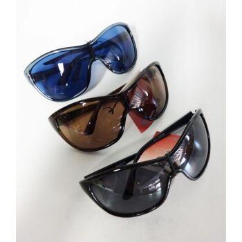 Blaue, braune und schwarze Sonnenbrillen - Italien-Design - im Display
