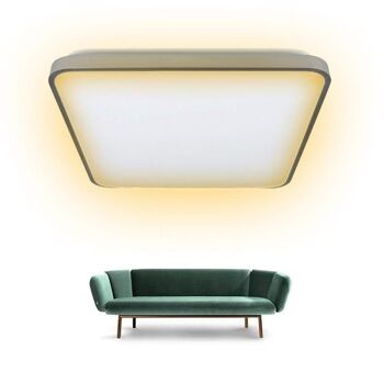 60W LED Deckenleuchte Warmweiß 3200K Sternen Himmel Deckenlampe Wand-Deckenleuchte Badezimmer Modern Energiespar [Energieklasse A++]