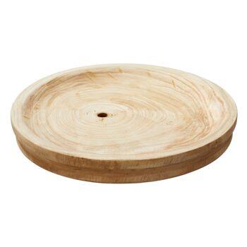 17-44395, Holz Dekoteller 33 cm, Platzteller, Schinkenteller, Platzhalter