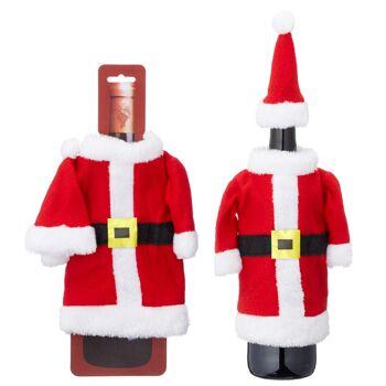 17-41941, Flaschenkostüm Weihnachtsmann, 2-teilig Nikolaus