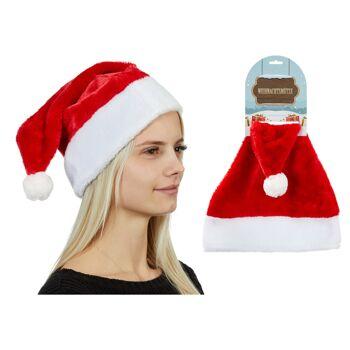 17-90481, Weihnachtsmütze extra weich, extra dick Nikolausmütze