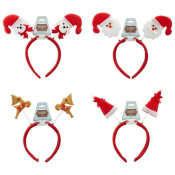 17-90753, Haarreif Weihnachten, Mütze, Bär, Santa, Rentier, Nikolaus, ideal für Party, Event, Weihnachtsmarkt, usw