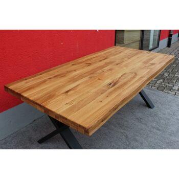 Esstisch Massivholz + Metall Gestell 240x100cm