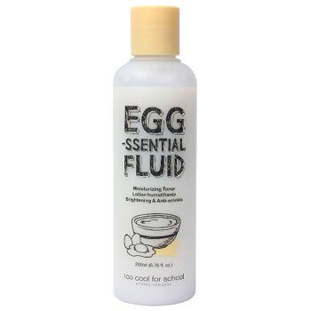 too cool for school EGG-ssential Fluid 200 ml - feuchtigkeitsspendenes Gesichtswasser mit Anti-Falten-Wirkung - Korean Beauty