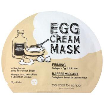 too cool for school EGG Cream Mask Firming 28 g - ultrafeine Mikrofaser-Tuchmaske mit Kollagen und Eigelb-Extrakt - Korean Beauty