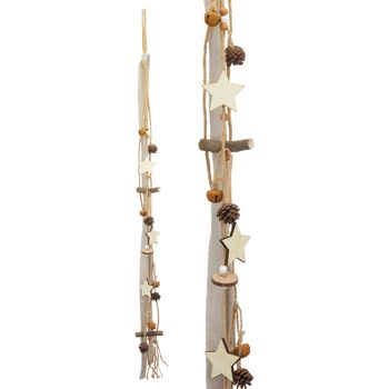 17-43447, Holz Weihnachts Hänger 90 cm