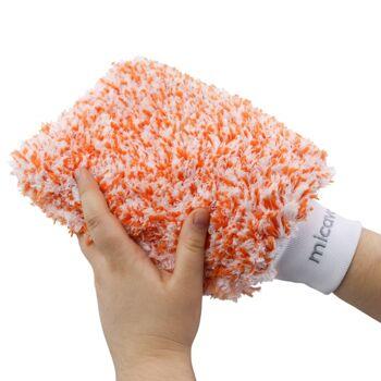Geschäftsaufgabe +++ Mikrofaser Waschhandschuh zur Fahrzeugpflege oder im Haushalt, 25cm x 3cm x 16cm +++ 100 Stk pro Karton +++
